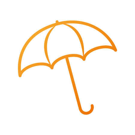 umbrella rainy season protection accessory vector illustration Иллюстрация