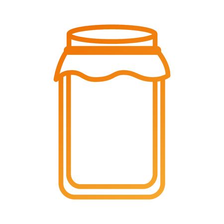 glazen pot met dop gevuld met honing vectorillustratie
