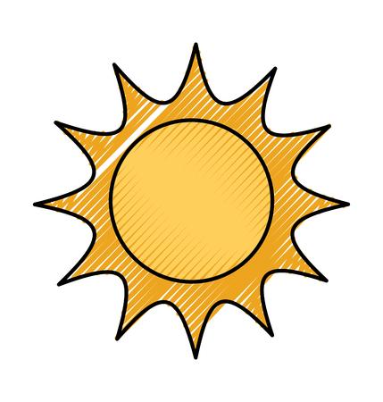 태양 우주에서 우주 천문학 과학 벡터 일러스트 레이션 일러스트