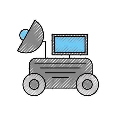 Lo spazio scopre l'esplorazione e l'illustrazione di vettore di simbolo di avventura Archivio Fotografico - 88433922