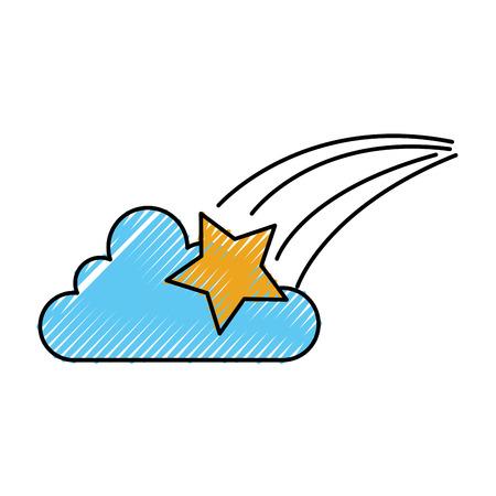 astrologie ster wolk helder universum vector illustratie