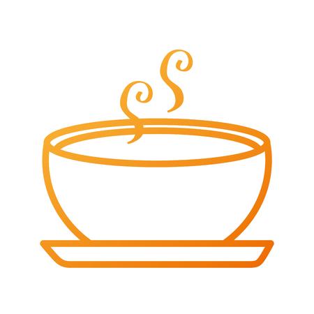 Delicioso plato de sopa de comida de la temporada otoño ilustración vectorial Foto de archivo - 88433957
