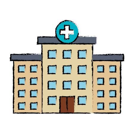 Krankenhausgebäude isoliert Symbol Vektor-Illustration , Design , Standard-Bild - 88434170