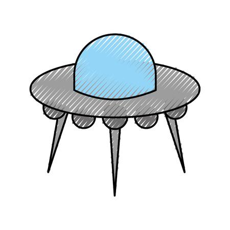 Illustrazione di vettore di trasporto di scienza tecnologia piattino volante ufo Archivio Fotografico - 88434192