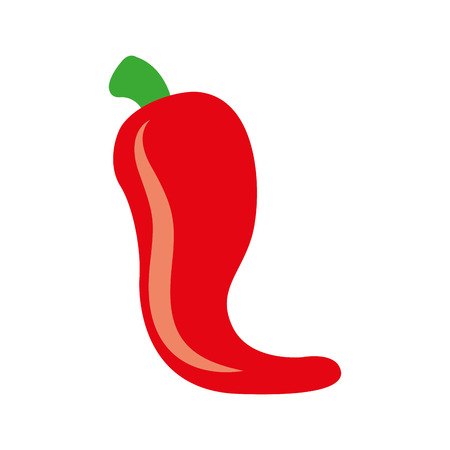 hot mexican chili pepper fast food vector illustration Illustration