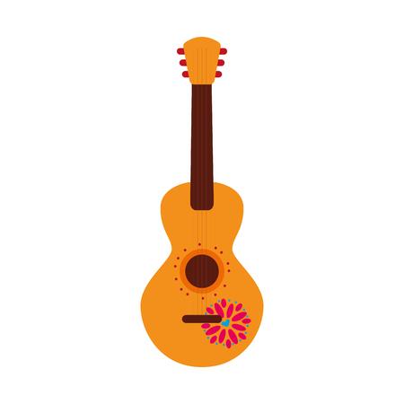 Ilustración de vector de diseño de guitarra mexicana instrumento musical de carnaval Foto de archivo - 88431251