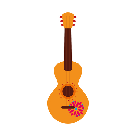 mexican guitar instrument musical carnival design vector illustration Illustration