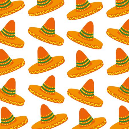 メキシカン ハット カーニバル衣装頭飾りベクトル図  イラスト・ベクター素材