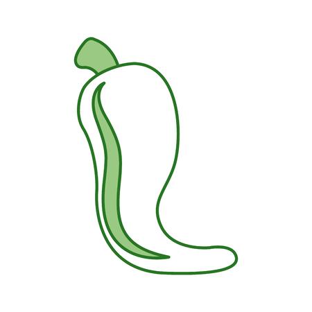 hot mexican chili pepper fast food vector illustration Ilustração