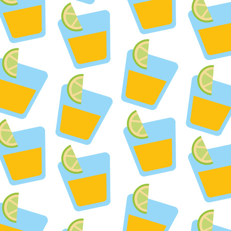 tequila shot with lime slice drink liquor mexican wallpaper vector illustration