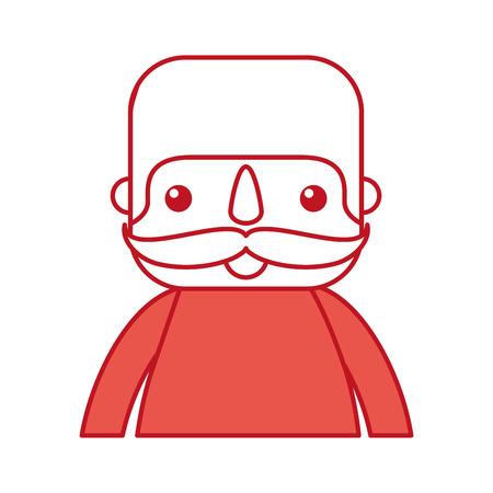 행복한 멕시코 사람 프로필 만화 이미지 벡터 일러스트 레이션