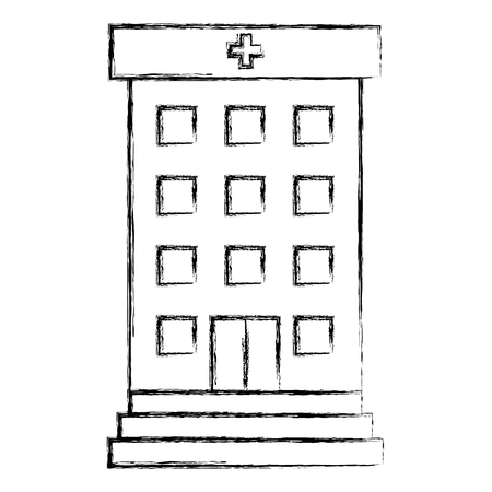 Krankenhausgebäude isoliert Symbol Vektor-Illustration , Design , Standard-Bild - 88431590