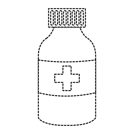 ボトル薬分離アイコンベクトルイラストデザイン