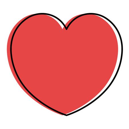 心臓心臓病分離アイコンベクトルイラストデザイン