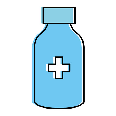 bottle drugs isolated icon vector illustration design