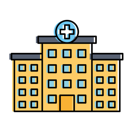 hospital building isolated icon vector illustration design Illustration