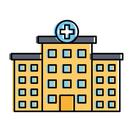 ziekenhuisbouw geïsoleerd pictogram vectorillustratieontwerp