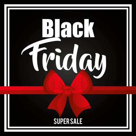 black friday promotion label vector illustration design Ilustração
