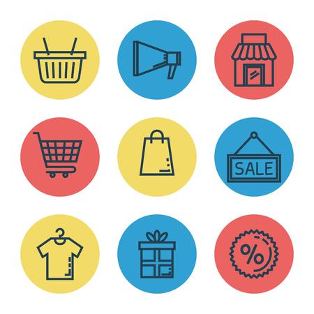 media marketing set icons vector illustration design Illustration