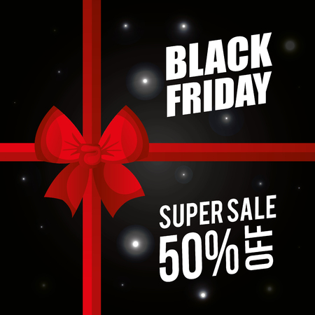 black friday promotion label vector illustration design Ilustração