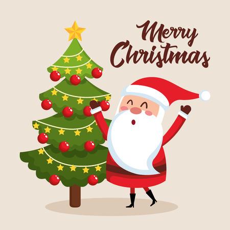 Frohe Weihnachten Santa Charakter Vektor-Illustration Design Standard-Bild - 88435119