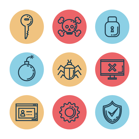 Informatic security set icons vector illustration design Stock Vector - 88435120