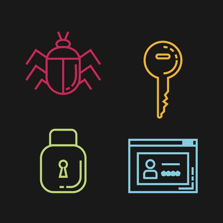 Diseño de ilustración de vector de iconos informáticos de seguridad informática Foto de archivo - 88435362