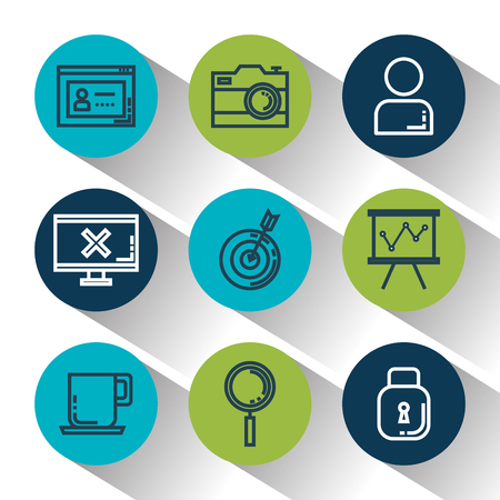 business and management set icons vector illustration design Фото со стока - 88435603