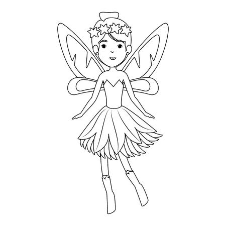 beautiful fairy flying character vector illustration design Ilustração