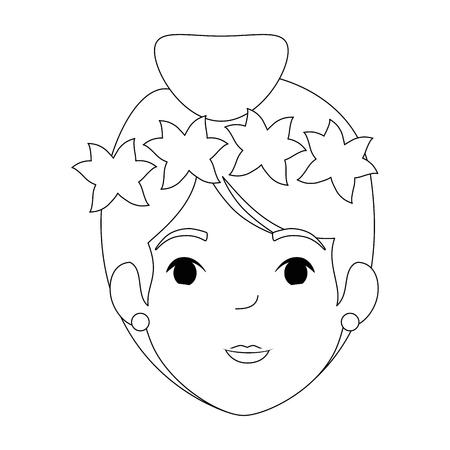 beautiful fairy head character vector illustration design