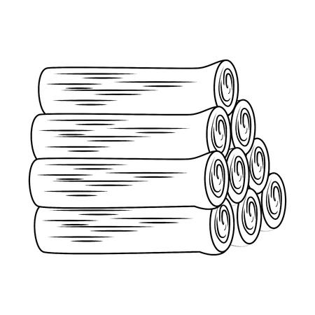 stapel houten trunks pictogram vector illustratie ontwerp Stock Illustratie