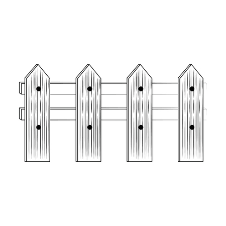 wooden fence isolated icon vector illustration design