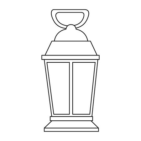 Diseño aislado de la ilustración del vector del icono de la linterna de mina Foto de archivo - 88436335