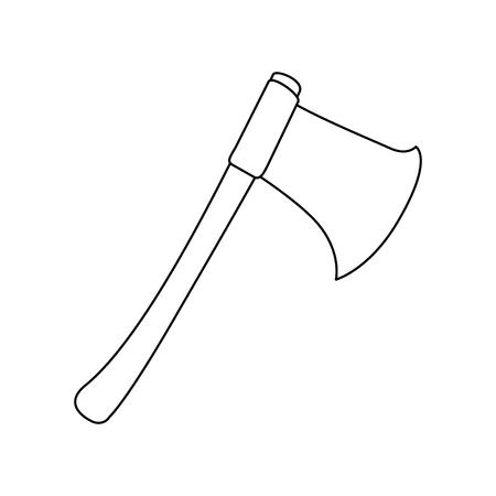 Leñadores hacha icono aislado vector ilustración diseño Foto de archivo - 88436152
