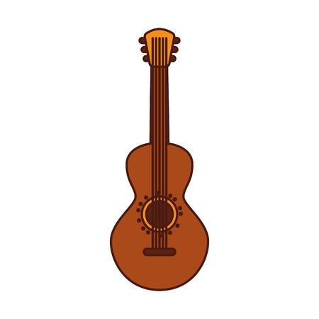Mexikanische Gitarre Instrument musikalische Karneval Design Vektor-Illustration Standard-Bild - 88437282