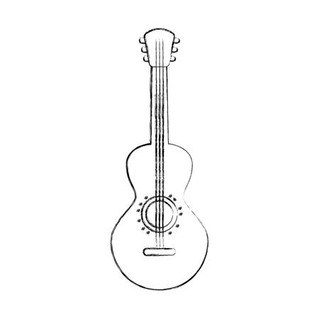 Ilustración de vector de diseño de guitarra mexicana instrumento musical de carnaval Foto de archivo - 88437905