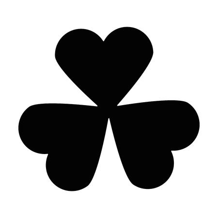 leaf clover plant icon vector illustration design