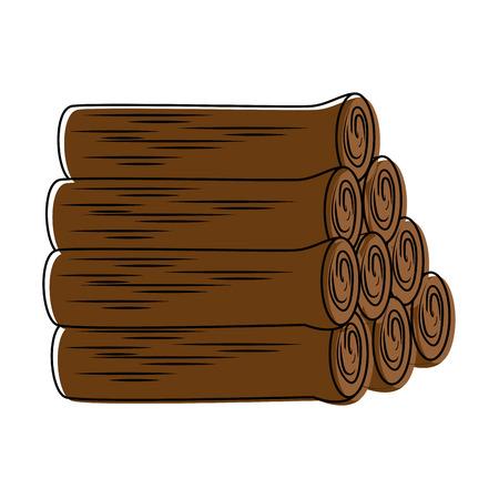パイル木製トランクスアイコンベクトルイラストデザイン  イラスト・ベクター素材