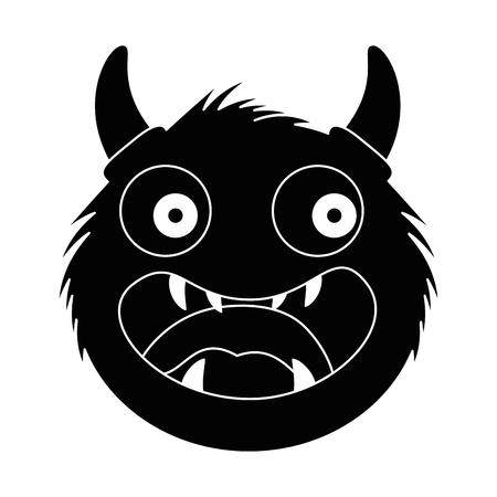 male furry monster character vector illustration design
