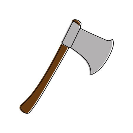 steel: woodcutters ax isolated icon vector illustration design