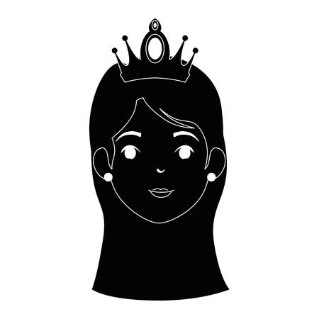 cute fantasy princess character vector illustration design