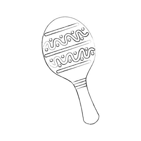 maracas mexican music instrument celebration carnaval vector illustration