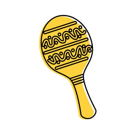 maraca Mexicaanse muziek instrument carnaval vectorillustratie viering Stock Illustratie