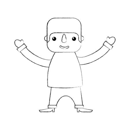 estereotipo: mexican man cartoon standing character vector illustration