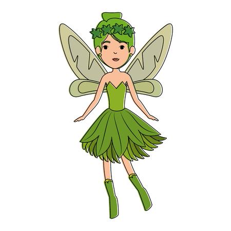 beautiful fairy flying character vector illustration design Illustration