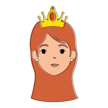 Conception d'illustration de vecteur mignon princesse fantaisie personnage Banque d'images - 88439987