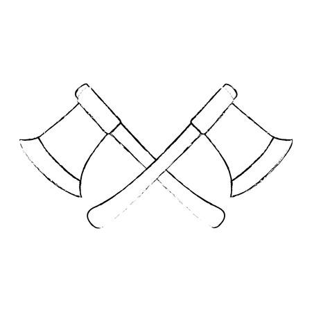 woodcutters 축 격리 아이콘 벡터 일러스트 디자인