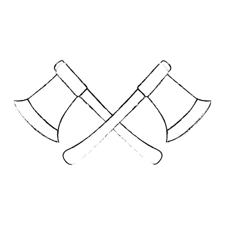 woodcutters axes isolated icon vector illustration design