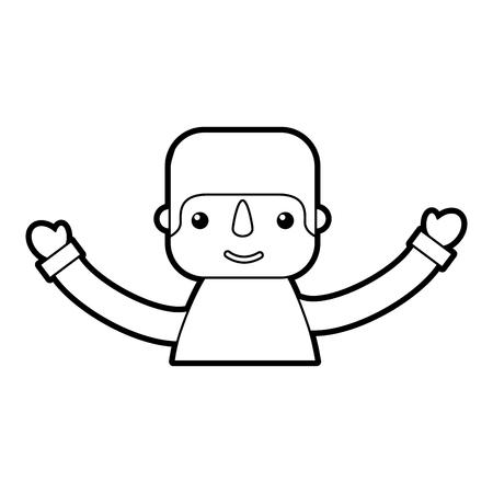ハッピーメキシコマンプロファイル漫画画像ベクトルイラスト