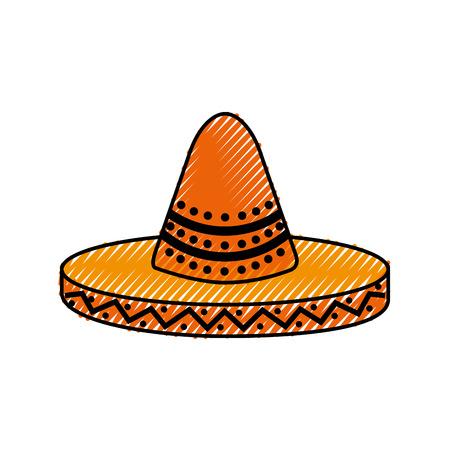 Mexikanische Hut Karneval Kostüm Kopfschmuck Vektor-Illustration Standard-Bild - 88441219
